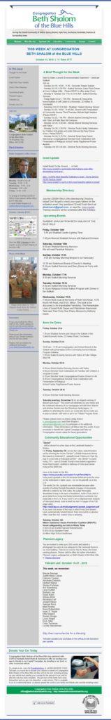 CBSBH Newsletter 101316